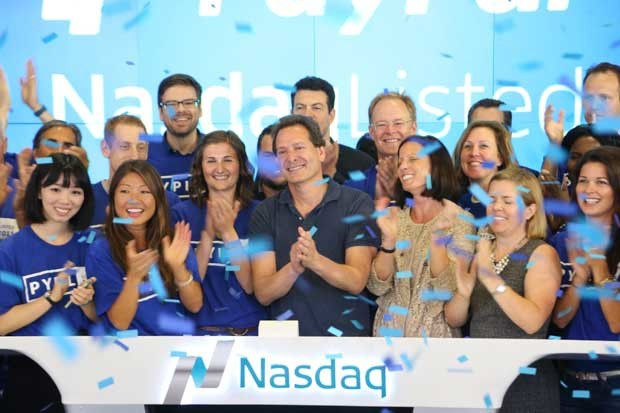 PayPal President and CEO Dan Schulman ringing the opening bell.