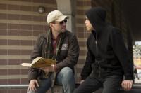 "Mr. Robot (Christian Slater) with Elliot Alderson (Rami Malek) in ""Mr. Robot"" on USA Networks."