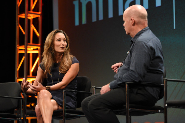 Zillow COO Amy Bohutinsky talks at the Inman Connect conference
