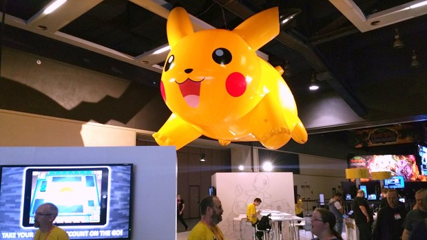 Pokemon's booth at the PAX Prime gaming convention in Seattle.