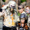 Mad Max villain Immortan Joe take a selife with Imperator Furiosa and Mad Max
