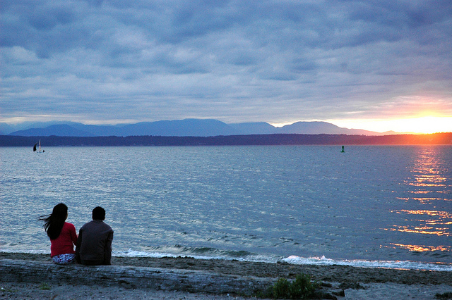 Golden Gardens at sunset. Photo courtesy of Flickr user Wonderlane.