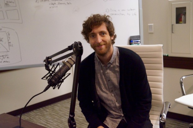 Thomas Middleditch behind the scenes at Microsoft Imagine Cup.