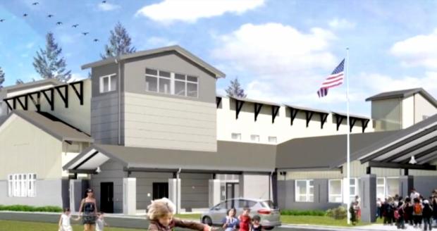 Photo via TCF Architecture/Ocosta Elementary School and tsunami shelter