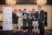 Tableau execs celebrate the company's new office in China.