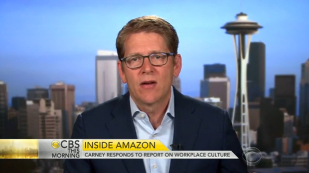 "Jay Carney on ""CBS This Morning"" after the New York Times article appeared."