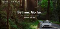 Photo via Tesla / Airbnb