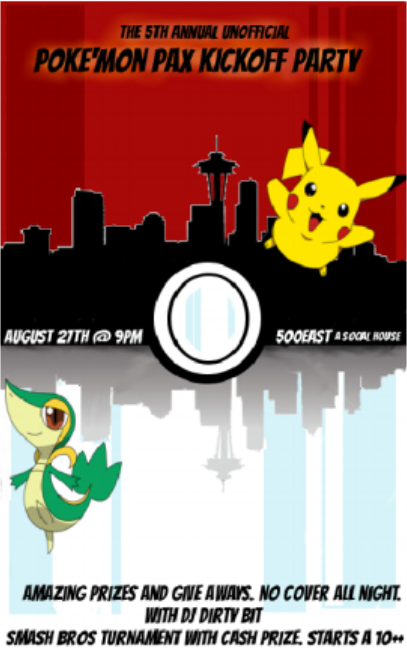 Poster for Pokemon-themed party