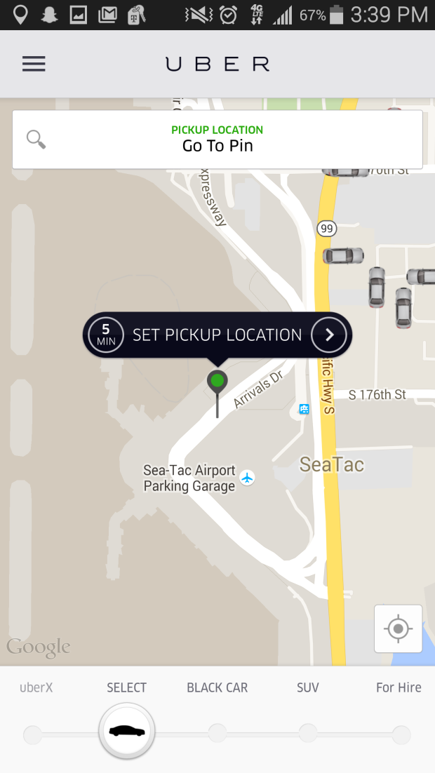 Uber launches higherend UberSELECT service in Seattle with