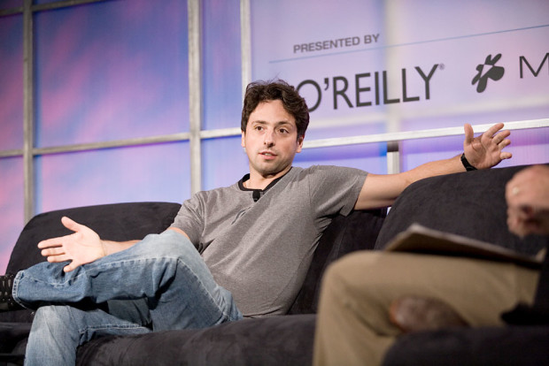Photo via Wikipedia/Google's Sergey Brin