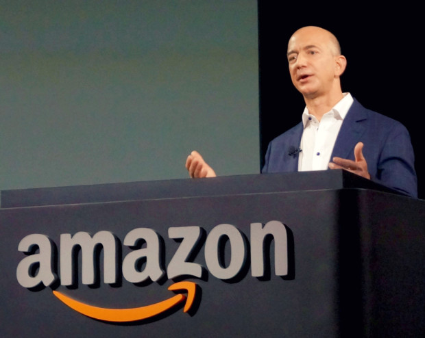 Jeff Bezos of Amazon was in the news a lot in 2015