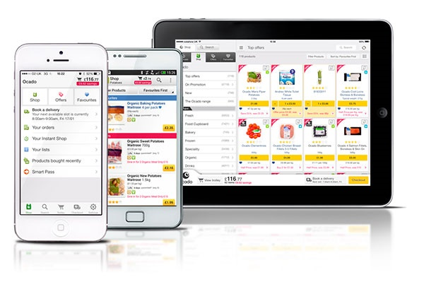 Ocado is a 15-year-old online-only grocery delivery service in the UK.