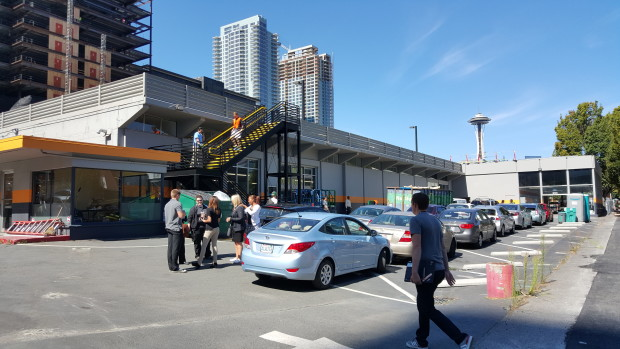 Amazon's Prime Now facility near its  Seattle headquarters.