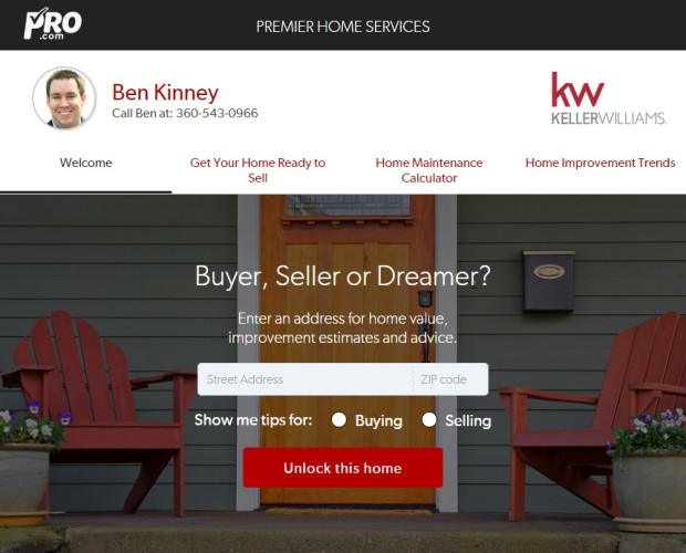 An example of how an agent is using Pro.com's Premier Home Services.