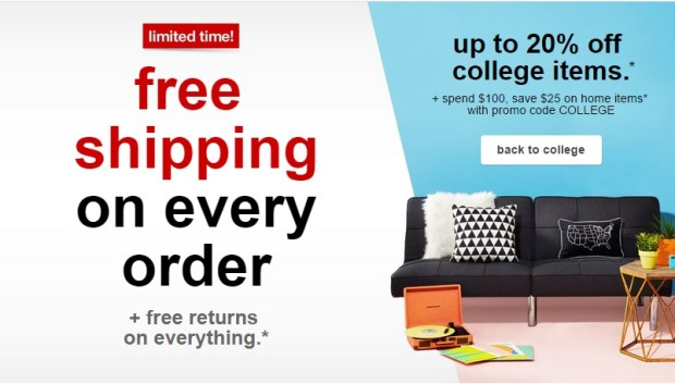 b353534fead7a Target offers free shipping to lure back-to-school shoppers away ...