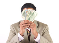 Can you get behind the money to meet a VC. Photo via Shutterstock