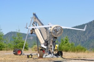 Insitu deploys a UAS over a Washington State wildfire.
