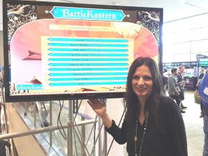 Author Alane Adams and BattleKasters Leader Board