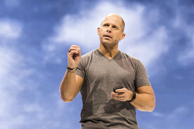 Brad Anderson speaking at Microsoft's Ignite conference this year.