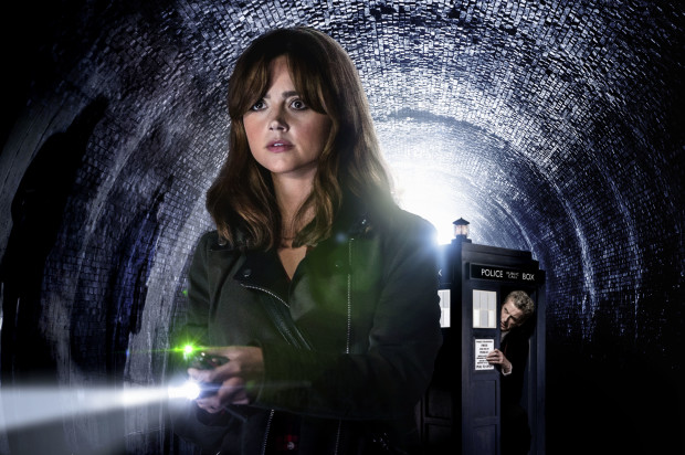 Jenna Coleman as Clara, and Peter Capaldi as The Doctor. (Adrian Rogers/BBC Worldwide)