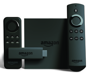 Amazon's new Fire TV and Fire TV stick with Alexa-enabled remotes.