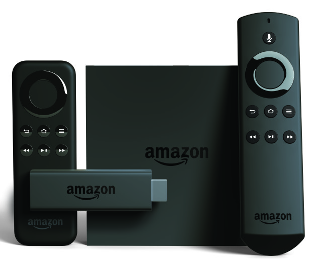 Amazon's Fire TV and Fire TV stick with Alexa-enabled remotes.