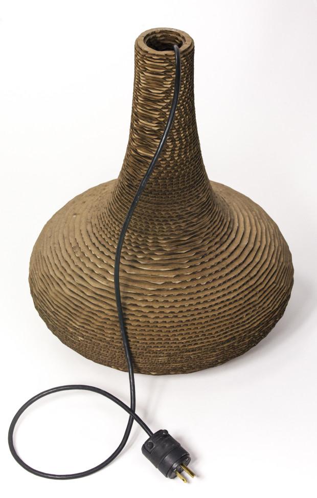 Glowforge cardboard lamp