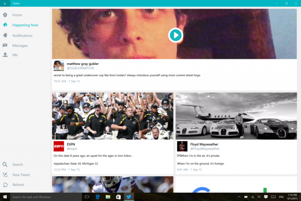 Twitter's new Happening Now section