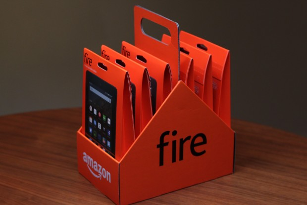 Amazon is selling six-packs of its new Fire tablet for $249.99.