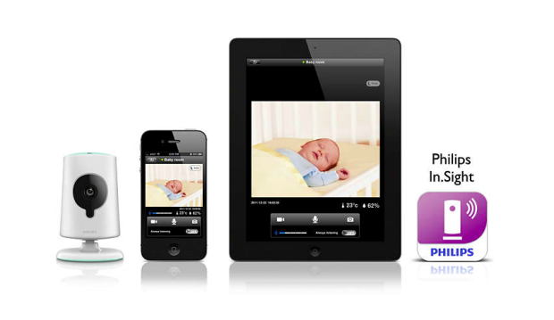Photo via Philips In.Sight Wireless HD baby monitor