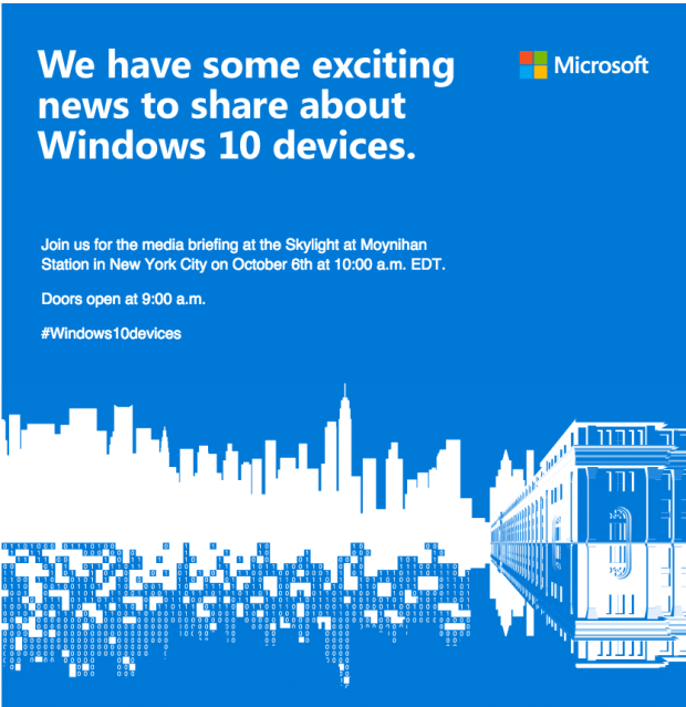 Microsoft October event