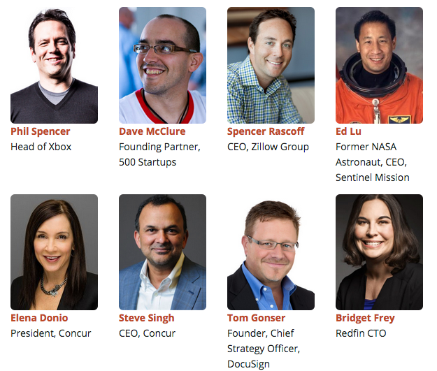Some of the GeekWire Summit speakers