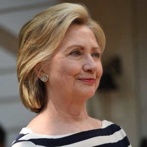 U.S. presidential candidate Hillary Clinton