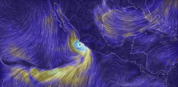Earth Wind Map view of Hurricane Patricia