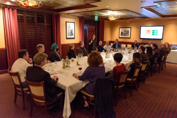 Technology executives gather for a VIP dinner at the GeekWire Summit Opening Night Party at Sullivan's Steakhouse this past Thursday.