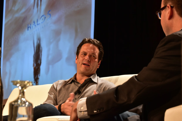 Phil Spencer, head of Xbox, at the 2015 GeekWire Summit.