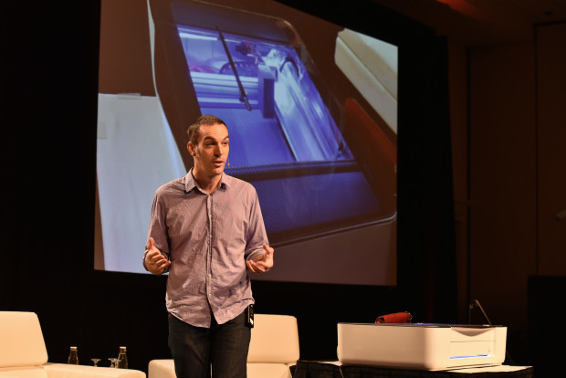 Dan Shapiro of Glowforge speaks at the 2015 GeekWire Summit.