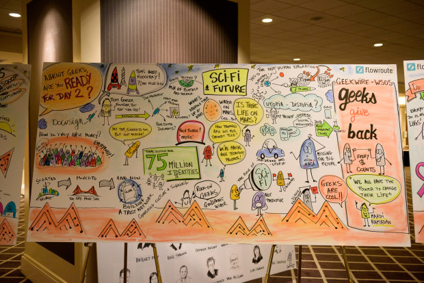GeekWire Summit murals