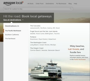 Former booking site for Amazon Destinations.