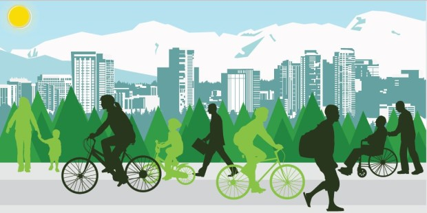 Logo for the city of Bellevue's initiative to improve bike and pedestrian safety.