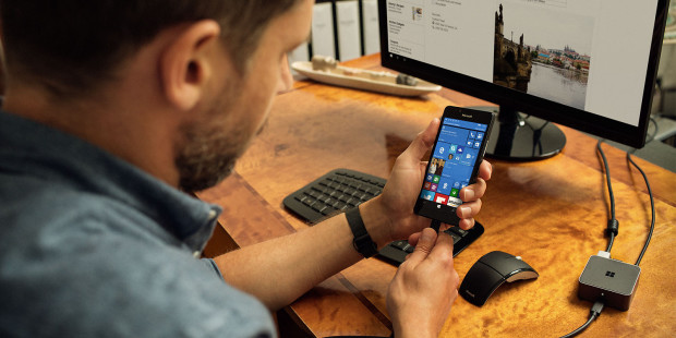 Microsoft's Continuum feature. (Photo courtesy of Microsoft)