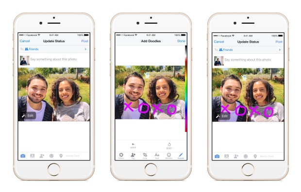 Facebook S Doodle Lets Users Draw On Photos Adding New Feature To Built In Photo Editor Geekwire