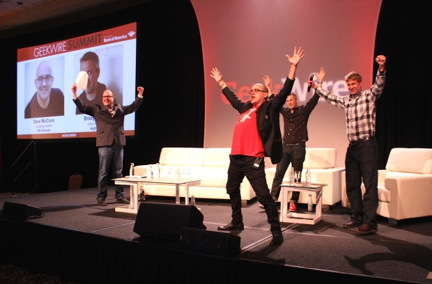 Venture capitalist Dave McClure leads 'power moves' at the GeekWire Summit