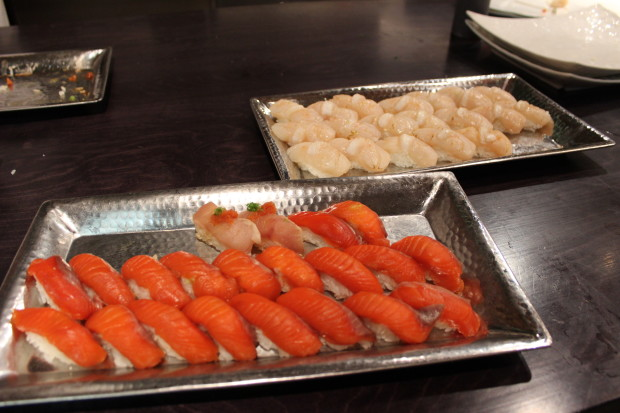 Sushi Kappo Tamura provided food at the UberEATS launch party on Tuesday.