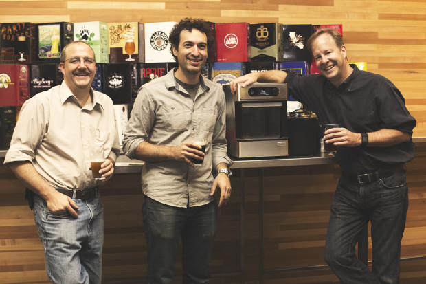 PicoBrew founders: Avi Geiger, Jim Mitchell, and Bill Mitchell. Photo via PicoBrew.