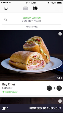 Uber Food Delivery Seattle