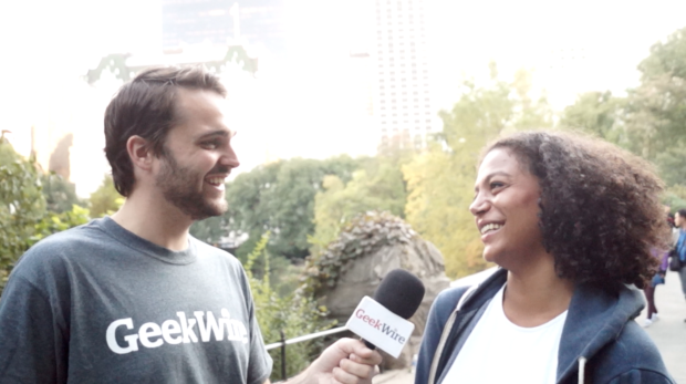GeekWire reporter Jacob Demmitt asks people in New York City's Central Park about Seattle's tech scene.