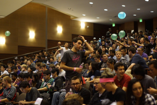 Students gather in Kane Hall on the UW campus. (Photo by Christopher Zeuthen)
