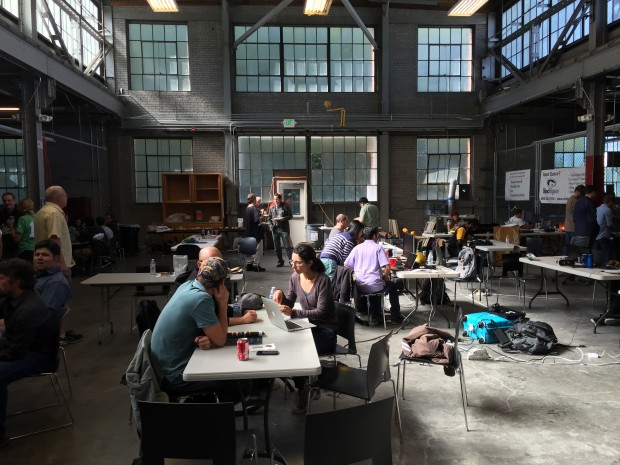 The VR Hackathon hacks in progress