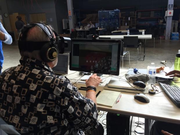 Tom Furness playing virtual instruments
